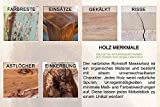 Massives Baumstamm Sideboard GENESIS 170 cm Akazie Massivholz Baumkante mit Kufengestell Industrial Finish -